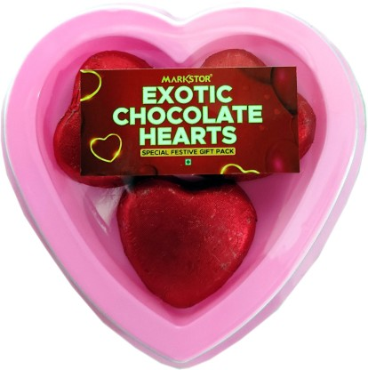 Markstor Exotic Chocolate Hearts 3 Pieces Truffles  (3 Units)