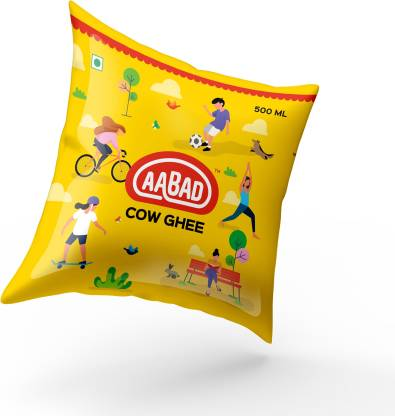 AABAD COW_GHEE_POLY_POUCH_500_ML Ghee 500 ml Pouch