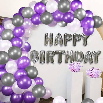 Party Decor Corner Solid Happy Birthday Balloons Decoration Kit 32Pcs Set Combo Balloon Bouquet