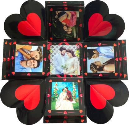 TrendyGift MOMENTS & MEMORIES LED Candle light Surprise Explosion Box (Without Photos) Greeting Card