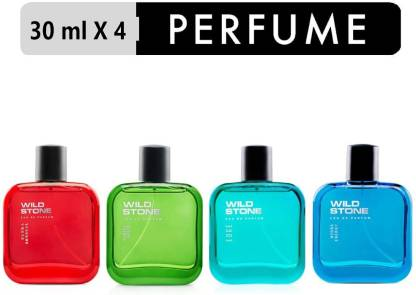 Wild Stone Edge, Forest Spice, Hydra Energy & Ultra Sensual Perfume Combo pack of 4 ( 30 ml each) Eau de Parfum  -  120 ml