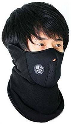 India Unltd Black Bike Face Mask for Men