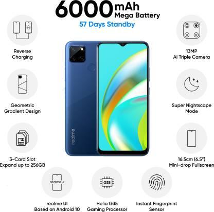 Realme C12 (Power Blue, 32 GB)