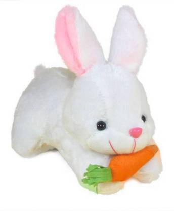 BIG DIMAND NEW VARIENT RABBIT WITH CARROT SOFT TOY HIGH QUALITY SOFT TOY – 24.7 cm (White)