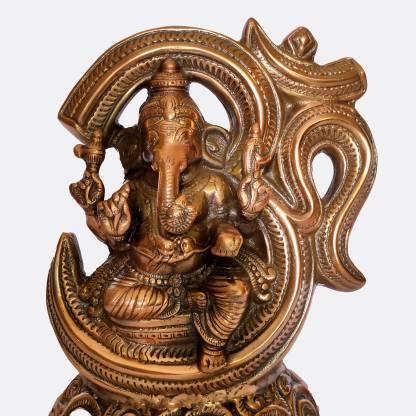 The Art Box Lord of Ganesh Om Sitting Ganesh Statue Ganpati Murti Om Ganesh Idol Decorative Showpiece  -  39 cm