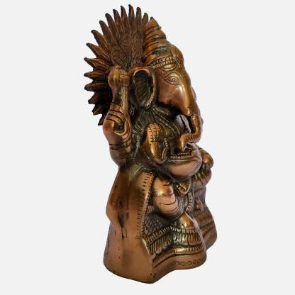 The Art Box Lord of Ganesh Surya Sitting Ganesh Statue Ganpati Murti Surya Ganesh Idol Decorative Showpiece  -  25 cm