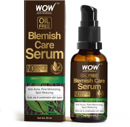 WOW SKIN SCIENCE Blemish Care Serum - OIL FREE - Anti Acne, Spot Reducing - No Parabens, Silicones, Synthetic Fragrance & Color - 30mL