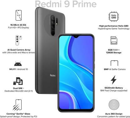 Redmi 9 Prime (MatteBlack, 128 GB)