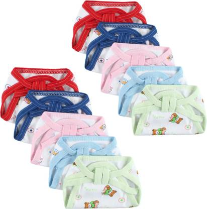 Honey Boo New Born Washable Reusable Hosiery Cotton Diapers, 0-6 Months ( PACK OF 10 )