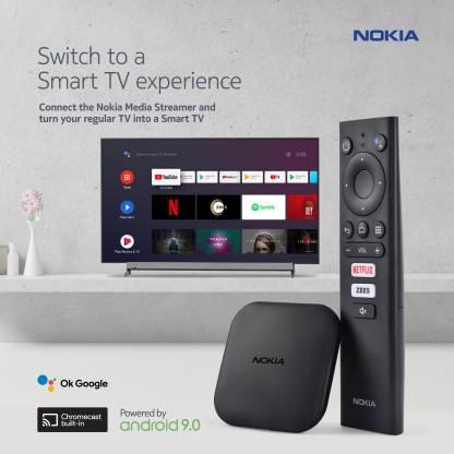 Nokia Media Streamer with Built- In Chromecast (Black)