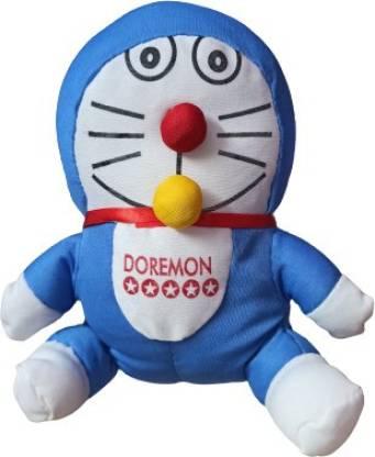 Cute Smile Soft toys Naughty Doraemon - 8 inch(Blue)  - 20 cm