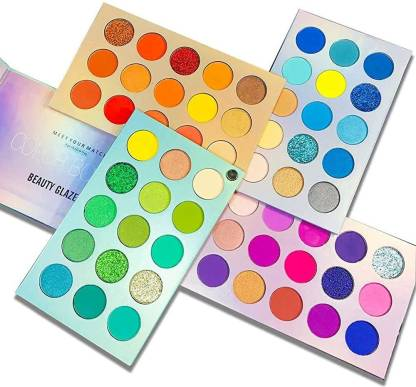 Beauty Glazed Eyeshadow Palette 60 Colors Mattes And Shimmers High Pigmented Color Board Palette Long Lasting Makeup Palette Blendable Professional Eye Shadow Make Up Eye Cosmetic 60 ml