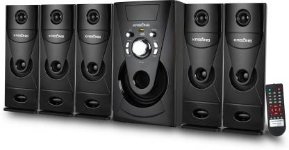 KRISONS Genius-300| App Controlled, Bluetooth Supporting Home Theatre 5.1 | USB, AUX, LCD Display, Built-in FM, Recording, Remote Control Bluetooth Home Theatre
