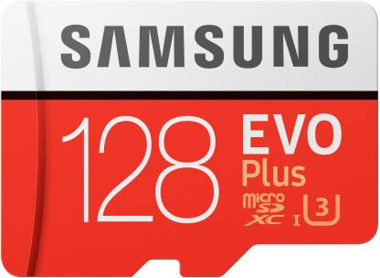 SAMSUNG EVO Plus 128 GB SD Card Class 10 95 MB/s  Memory Card