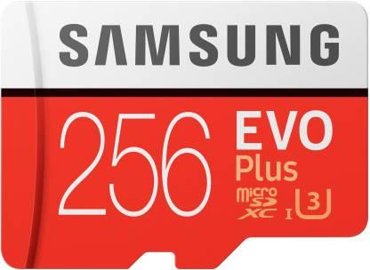 SAMSUNG EVO Plus 256 GB SD Card Class 10 90 Mbps  Memory Card