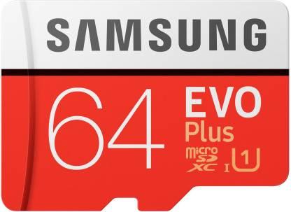 SAMSUNG EVO Plus 64 GB SD Card Class 10 95 MB/s  Memory Card