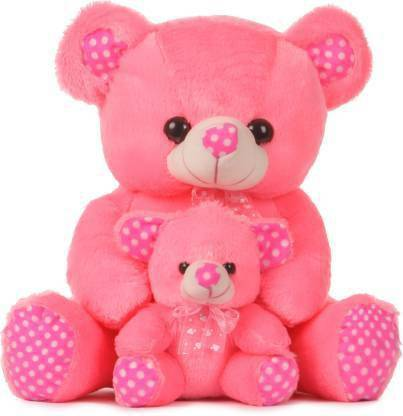 ABPY Mother And Baby Teddy Bear I Love You Jumbo For Some One Special 40cm (Pink) - 40 cm