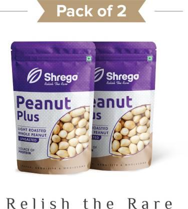 shrego Peanut Plus Light Roasted Whole Peanuts Unsalted 400G (2*200G Vacuum Packed)