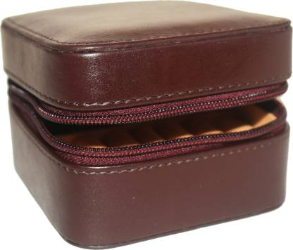 Genuine Leather Jewelry Box Trinket Case Rings Pendants Organizer Jewellery Case Gift for Her Mothers Day Gift