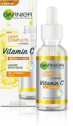 GARNIER Light Complete Vitamin C Booster Serum 30 ml - 3 Days to Spotless, Bright Skin | Light Texture Formula & Non-Oily Face Serum