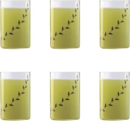 BOROSIL (Pack of 6) BVVIBLEAFBM Glass Set