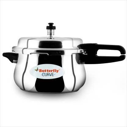 Butterfly Curve 5.5 L Induction Bottom Pressure Cooker