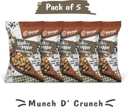 shrego Black Pepper Roasted Peanuts (5x140 GM) (Pack of 5)