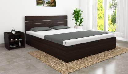 African Walnut Finish Prime Engineered Wood Queen Bed – Okra