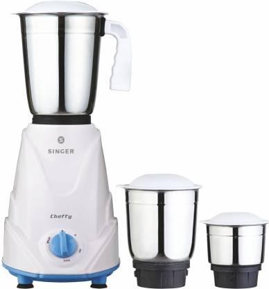 Singer cheffy Chefy 500 W Mixer Grinder (3 Jars, White)