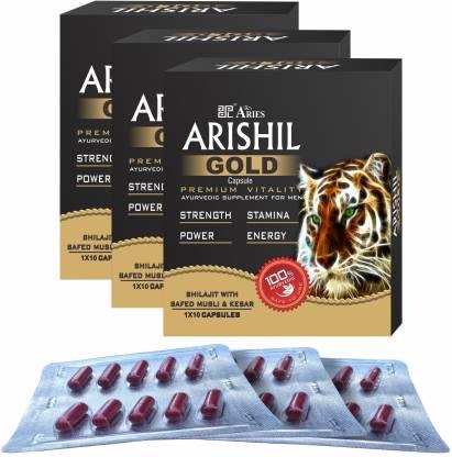 ARISHILGOLD Ayurvedic Capsules with Shilajit, Musli & Kesar