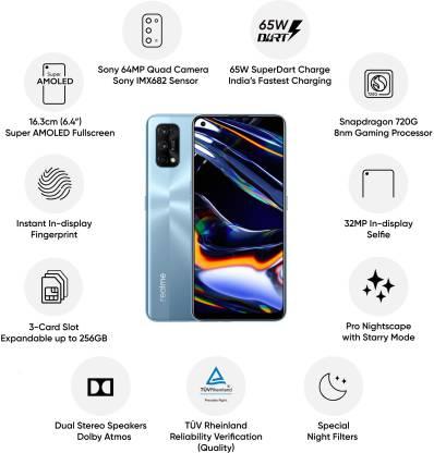 Realme 7 Pro (Mirror Silver, 128 GB)