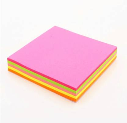 ODDY NEON MIX COLOUR STICKY 80 Sheets Regular, 4 Colors