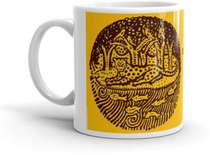 NAWARASA Sahaj Path Yellow Bengali Designer Coffee Ceramic Coffee Mug