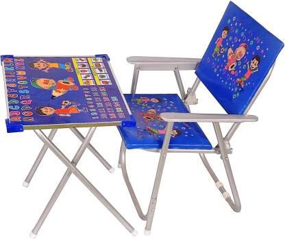 Rudra creations Beautiful and Modern Kids Study table & Chair Metal Desk Chair