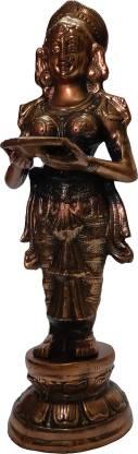 The Art Box Haat Oil Lamp Deep black metal Deep Lady metal Decorative Showpiece  -  80 cm