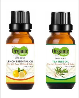 OrganicIndore 100% pure tea tree and lemon essential oil - 20 ml