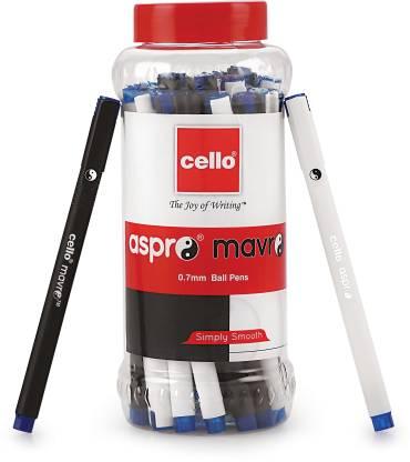 cello Aspro Mavro Ball Pen