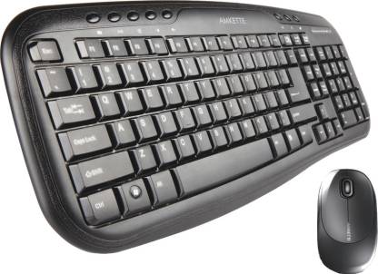 Amkette Cruizer Wireless Desktop Keyboard and Mouse Combo