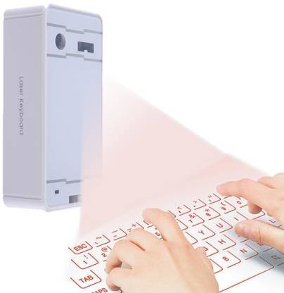 MAYA Premium White (Premium Quality) Virtual Laser Tablet Keyboard