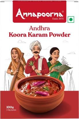 Annapoorna Andhra Koora Karam Powder 100g Carton