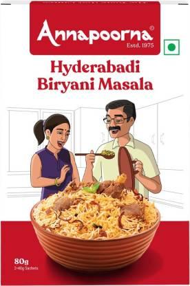 Annapoorna Hyderabadi Biryani Masala 80g Carton