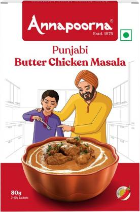 Annapoorna Punjabi Butter Chicken Masala 80g Carton