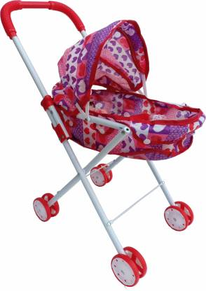 Kiti Kits CHILDREN'S BABY STROLLER TOY GIRL BABY PLAY HOUSE TROLLEY WITH DOLLS GIRLS AND BOYS TOYS 55 CM IRON TUBE Stroller