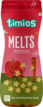 Timios Melts Whole Grain Snacks Baby Finger Foods 50 g