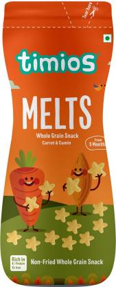 Timios Melts Carrot & Cumin Baby Finger Foods 50 g