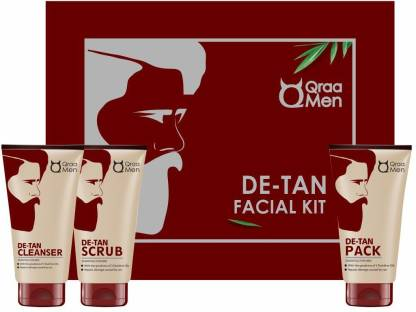 Qraa De-Tan Kit For Instant Tan Removal For Men, (Pack of 3)