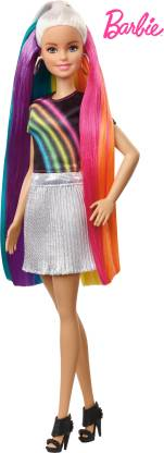 Barbie Doll Rainbow Sparkle Style Online in India (Multicolor)