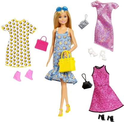 Cute Barbie Doll with Accessories & Fashions (Multicolor)