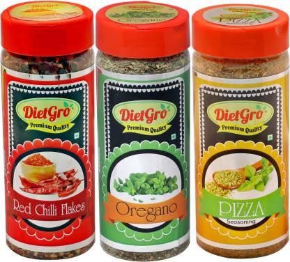 DietGro Best Superior Quality Natural Pizza seasoning,Oregano & Chilli Flakes for Regular use