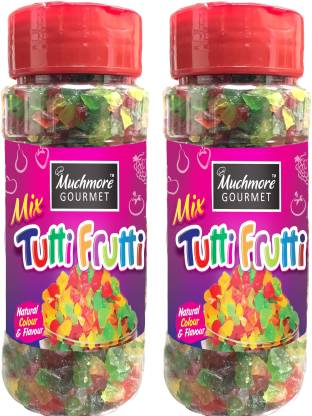 Muchmore |Cake Decoration|Tutti Frutti|Multicolour|Red|Cherries|Ice Cream|Sprinkles|Pantry|Pack of 2| Cherries, Gooseberry